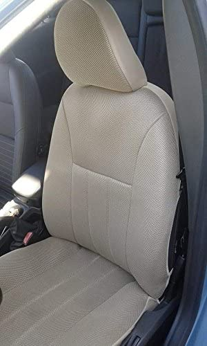 topcar-athens Two Front Classic Synthetic Custom Car Seat Covers (Volvo XC90 2002-2006, TAN (Beige))