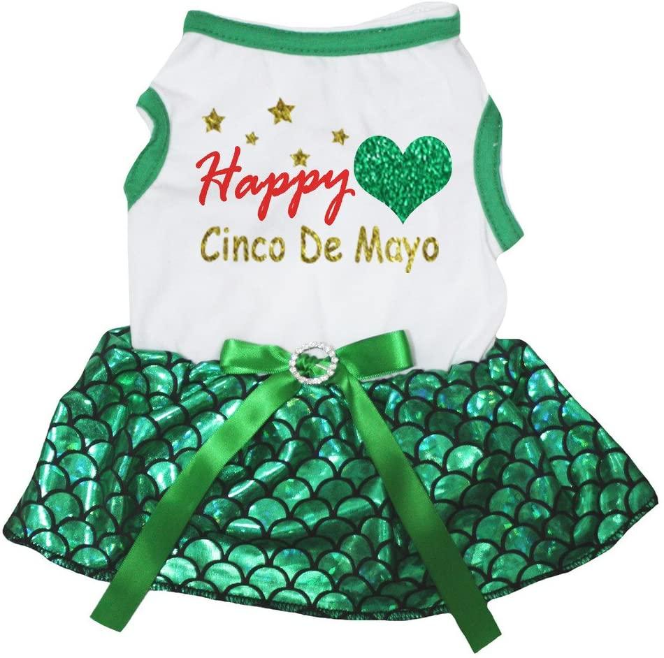 Petitebella Happy Love Cinco De Mayo Puppy Dog Dress