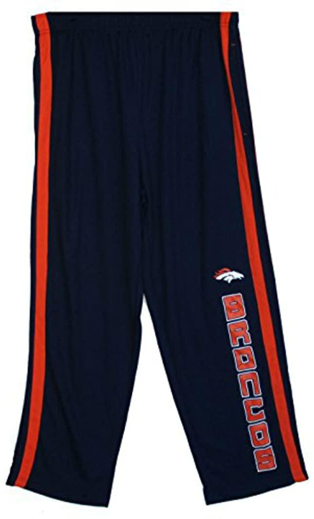 Genuine Merchandise Denver Broncos Adult X-Large XL Performance Sweatpants - Navy Blue & Orange
