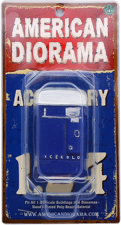 1 Piece Vending Machine Accessory Diorama Blue For 1:24 Scale Models by American Diorama 23989B
