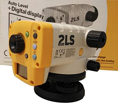 Topcon 2ls New Model Orion + Digital Level at-100d/at-124D Yellow Color (Yellow)