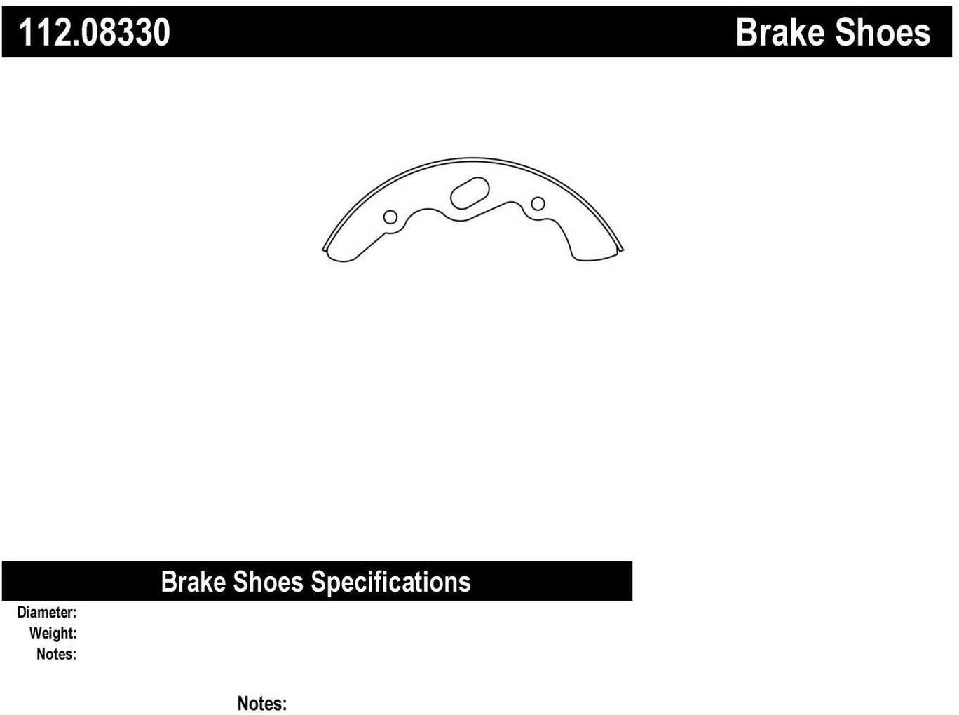 Centric 112.08330 Drum Brake Shoe