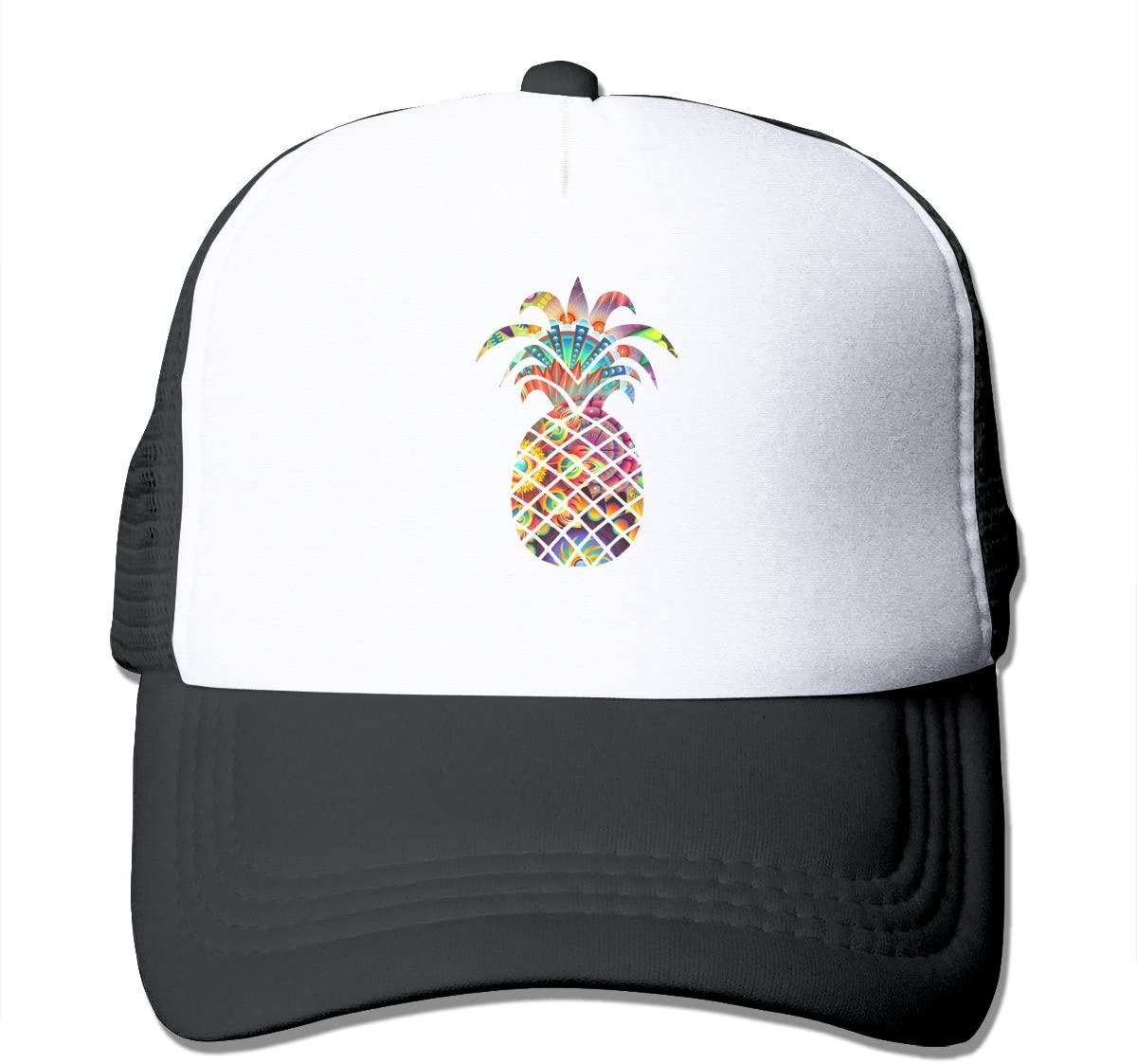 Adult Trucker Hat Psychedelic Pineapple Custom Mesh Caps