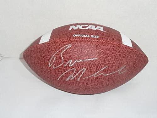 Bronco Mendenhall Signed Ncaa Football Virginia Cavaliers Byu Proof - Autographed College Footballs