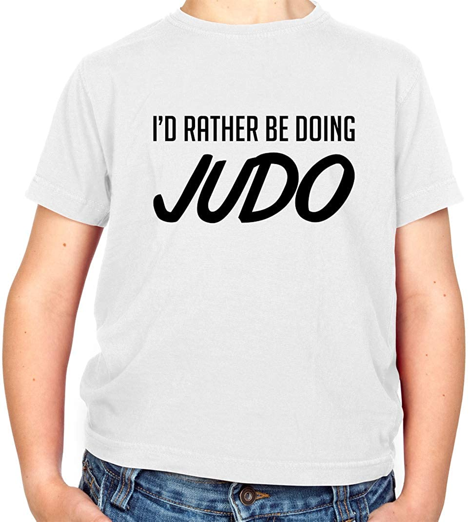 Dressdown Id Rather Be Doing Judo - Childrens/Kids Crewneck T-Shirt