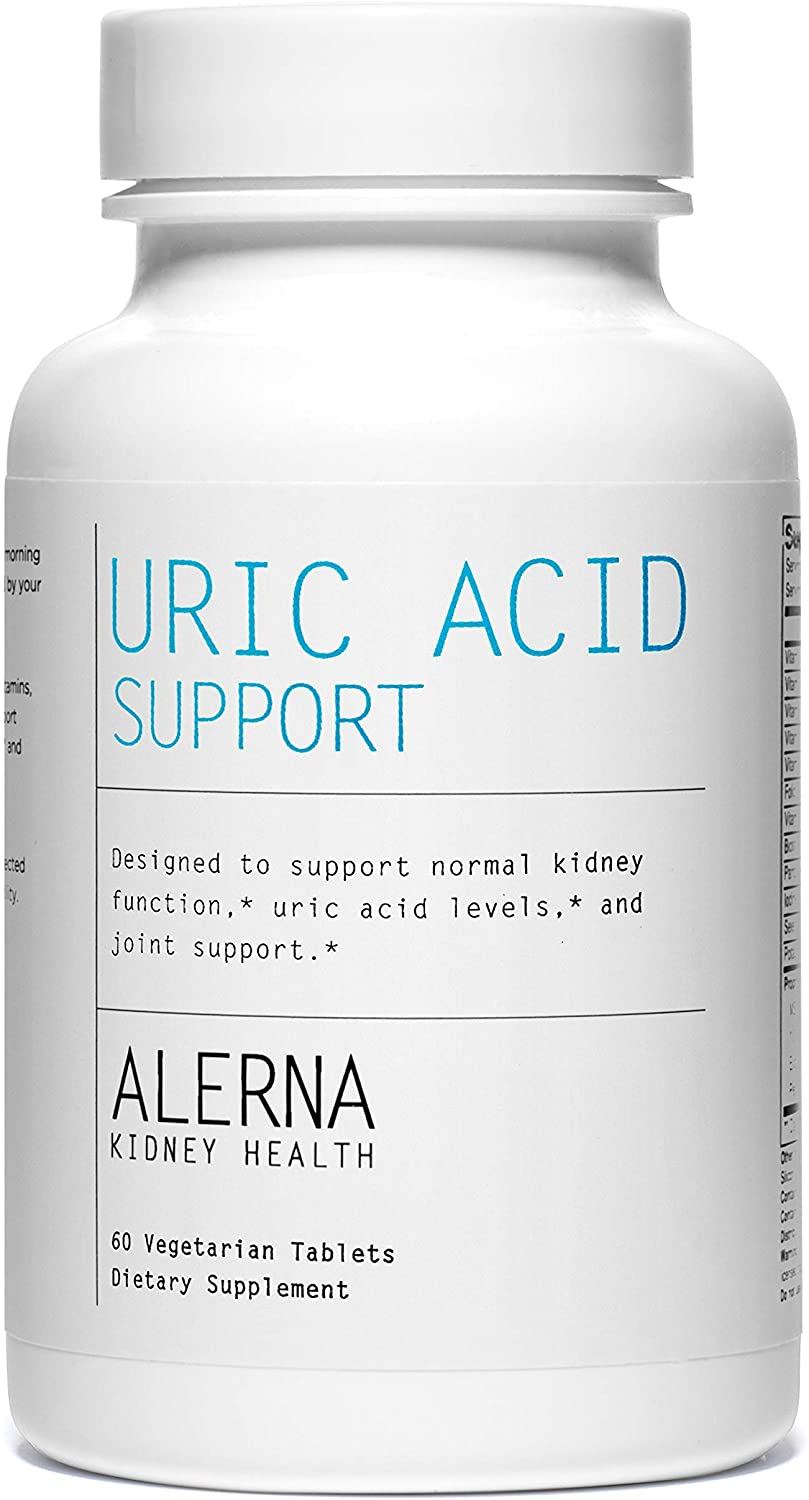 Alerna Kidney Health: Uric Acid Support with Tart Cherry , Celetry Extract , Tumeric , Quercetin , and More to Support Normal Kidney Function