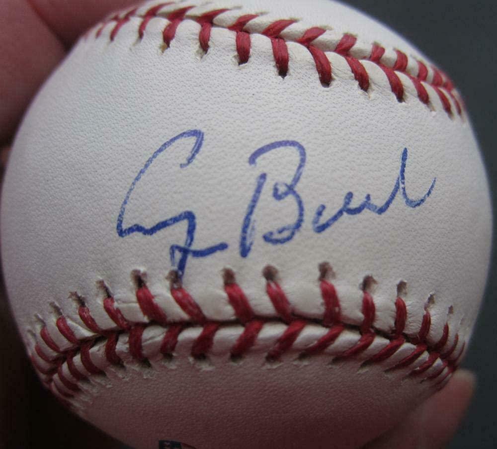George W. Bush Autographed Baseball - HW Single 41st President Logo - PSA/DNA Certified - Autographed Baseballs