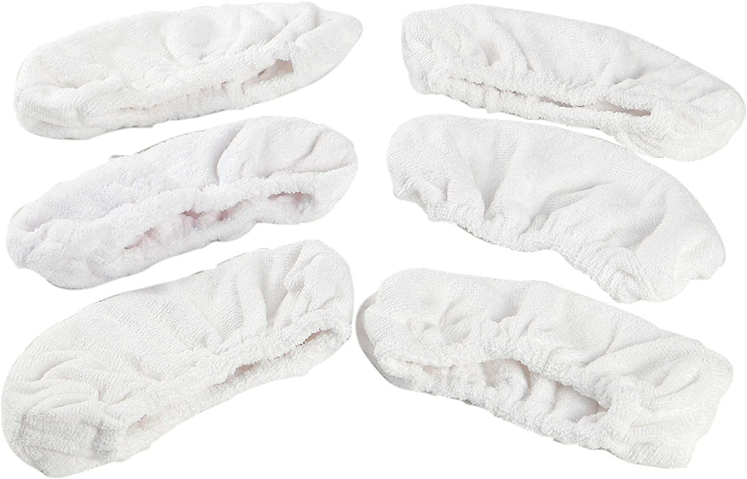 LTWHOME All Purpose Floor Replacement Bonnets Microfiber Pad Fit for Oreck Steam It Mop(Pack of 6)