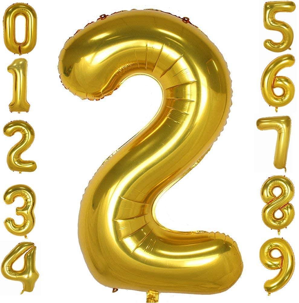 Tellpet Gold Number 2 Balloon, 40 Inch