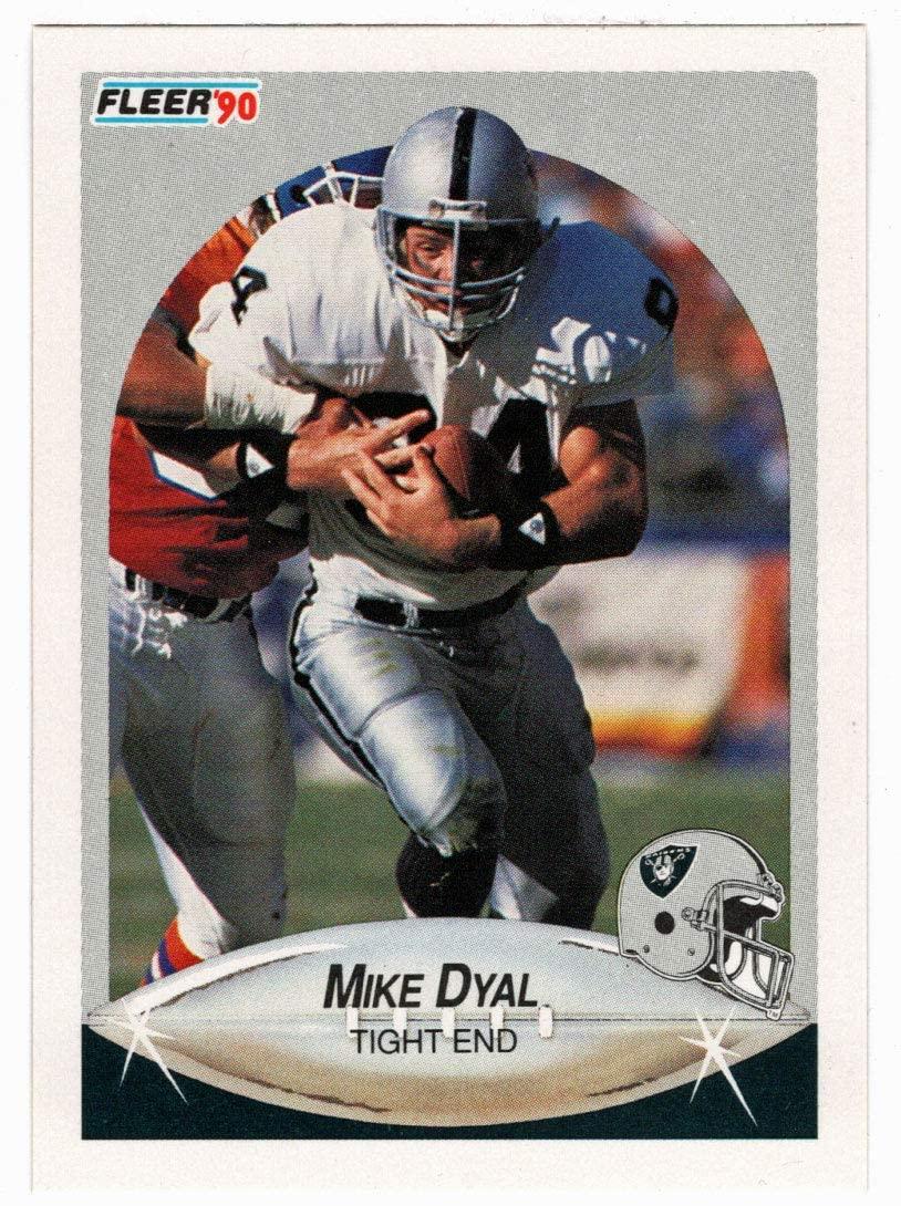 Mike Dyal RC - Los Angeles Raiders (Football Card) 1990 Fleer # 252 Mint
