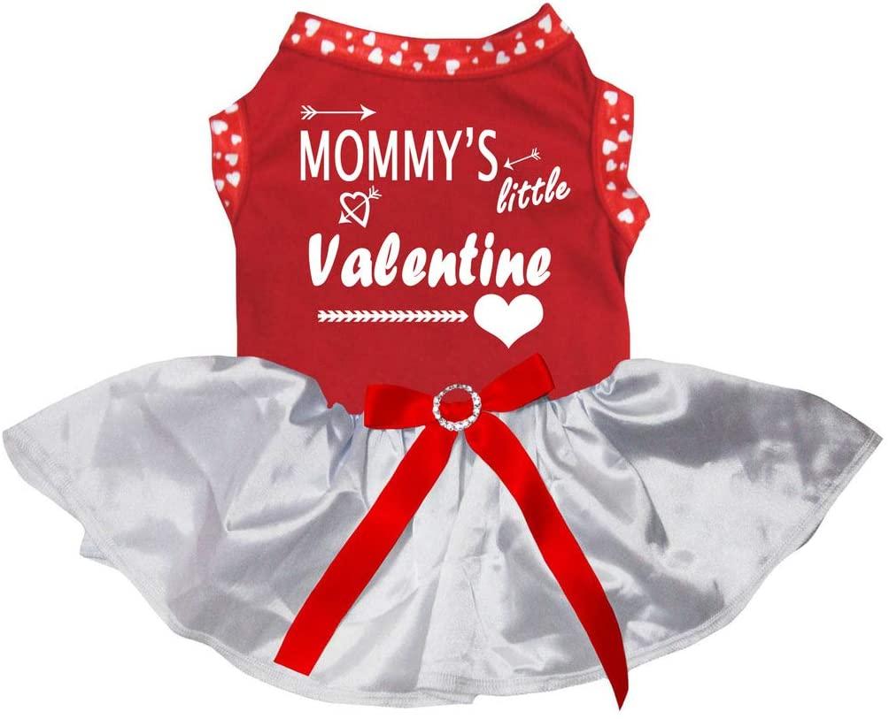 Petitebella Mommy's Little Valentine Red Shirt Tutu Puppy Dog Dress