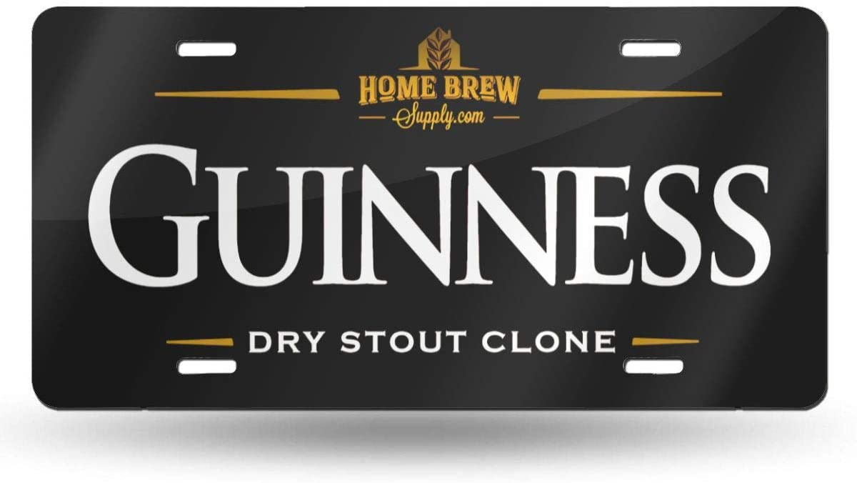 NOT Guinness Beer Logo License Plate 6 X 12