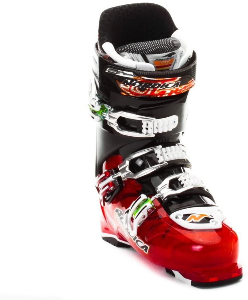Nordica Fire Arrow F3 Ski Boots - 26.5/Translucent Red-Red