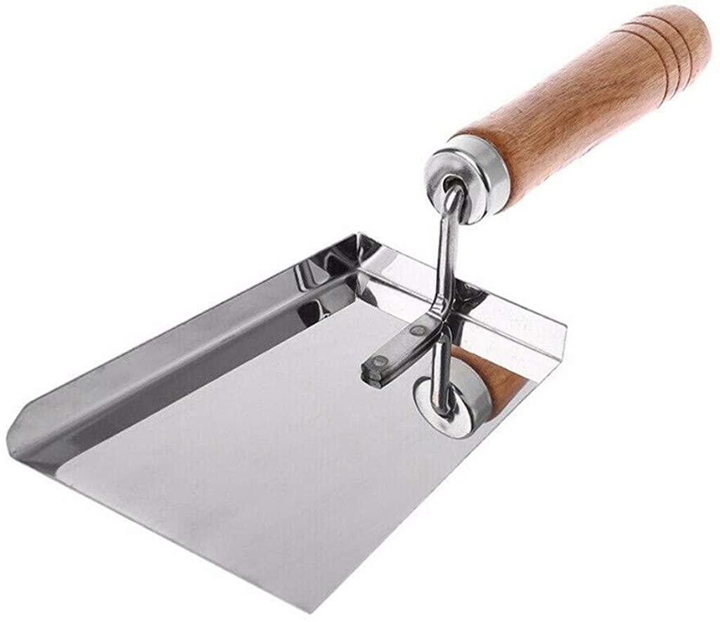 Orcbee_Stainless Steel Wood Handle Cleaning Beehive Shovel Beekeeping Clean Tool Scoop