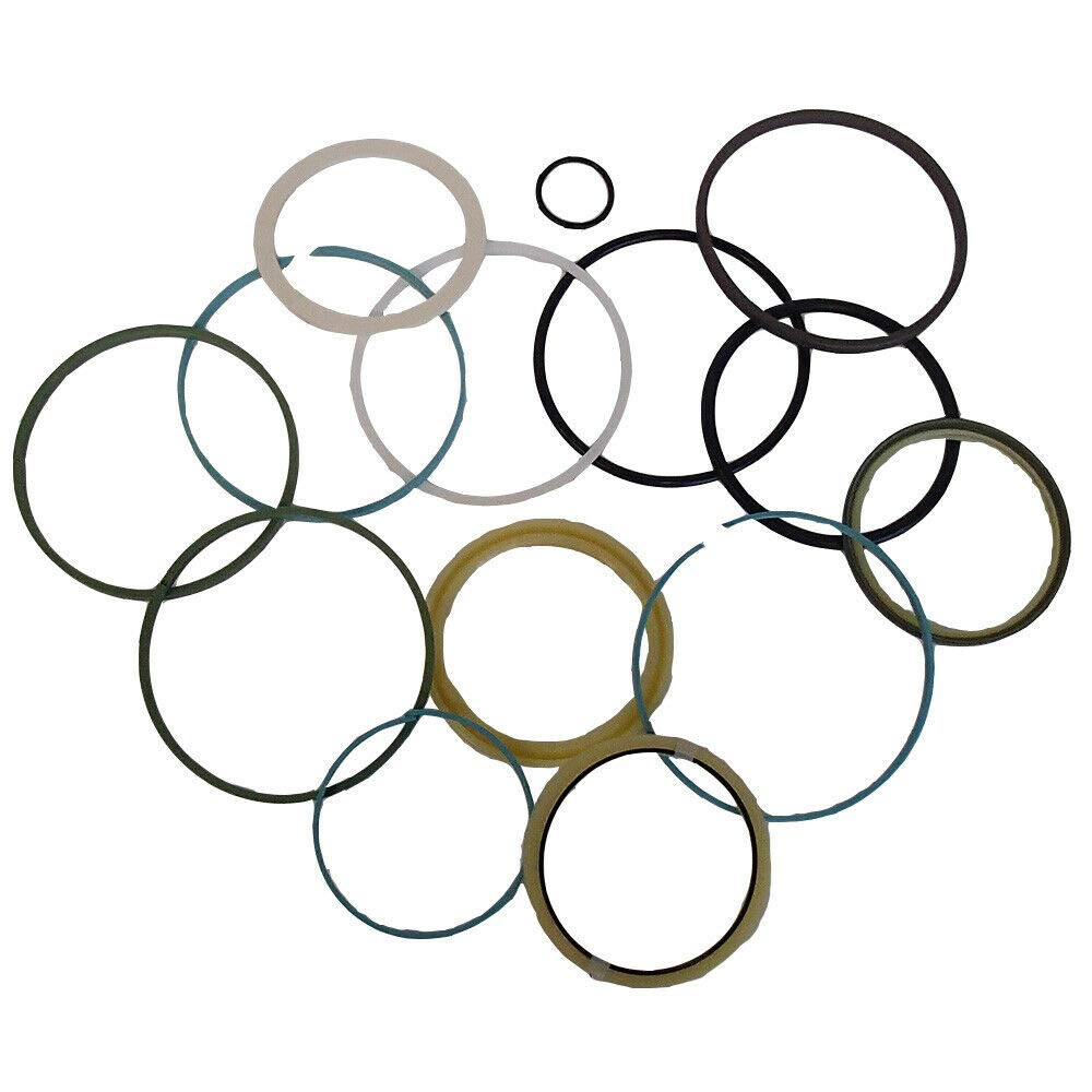 1 Set of Rod & Bore Cylinder Seal Kit, Compatible with Hitachi Excavator Arm EX200 EX200LC