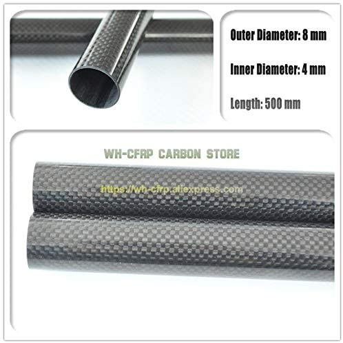 Vehicles-OCS 3k Carbon Fiber Tubes 8mm x 4mm x 500mm Parts for RC Model 3K Roll Wrapped Carbon Fiber Wing Tube 84 - (Color: 4pcs 8x4x500 Glossy)