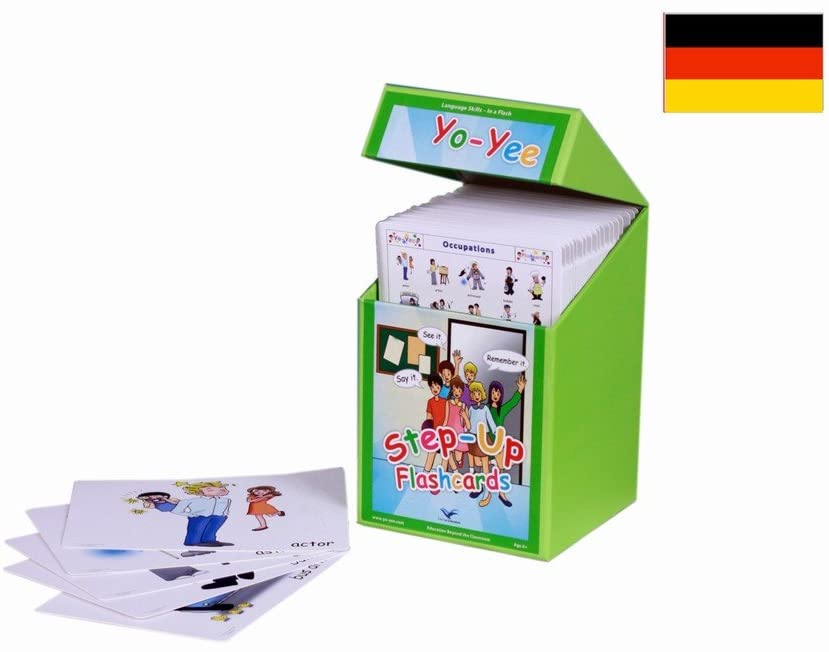 Yo-Yee Flashcards – Step Up Flash Cards Kit to Teach Elementary Students - Vocabulary Picture Cards for Toddlers, Kids, Children and Adults for Language Development, Speech Therapy and Autism