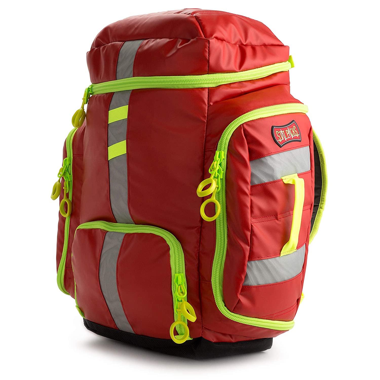 Statpacks G3 Clinician, Red EMT Jump Bag for Medics, Pack, Ergonomic, Lightweight EMS ALS Trauma Bag for EMS, Police, Firefighters