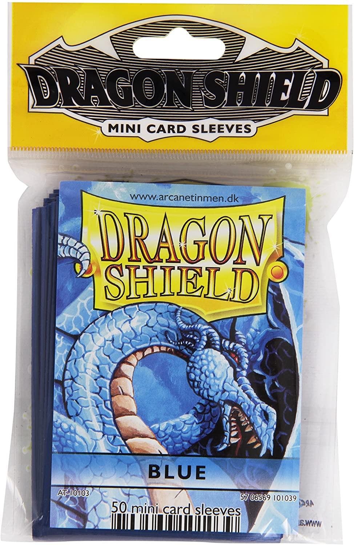 Arcane Tinman Sleeves: Mini Dragon Shield (10) Blue