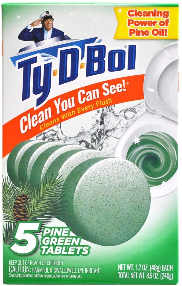 Ty-D-Bol Pine Toilet Cleaning Tablet 5 Pack
