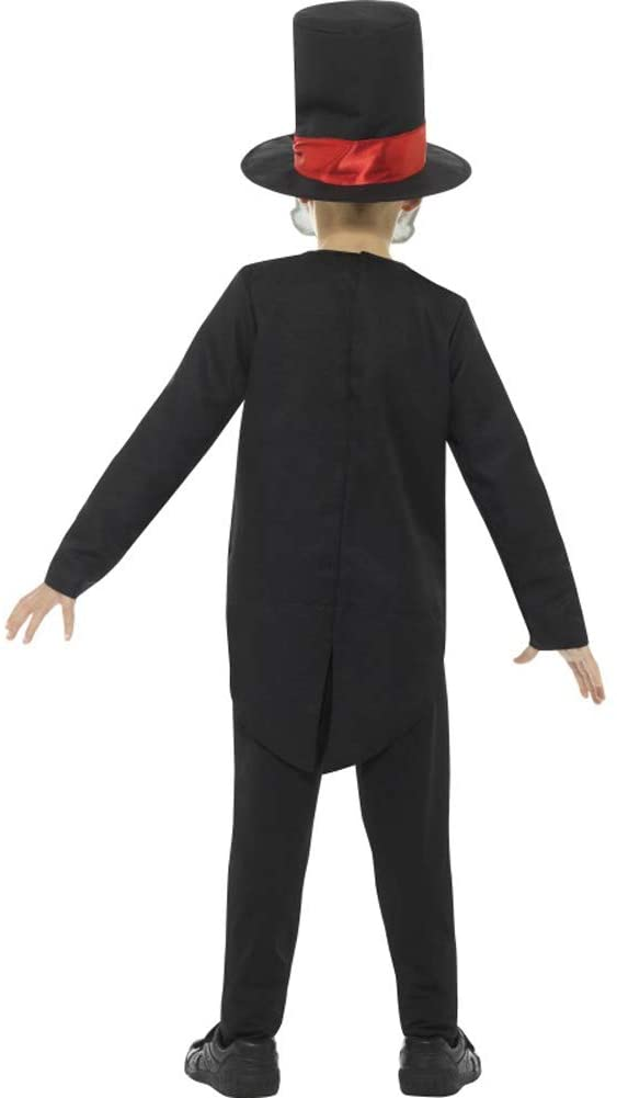Smiffys Day of The Dead Boy Costume, Black, Large