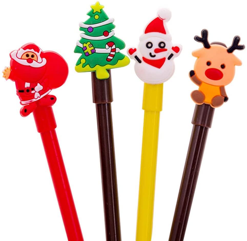 Walbest 4PCS Christmas Gel Pen Tree Santa Snowman Deer Ink Gel Pen Marker Stationery
