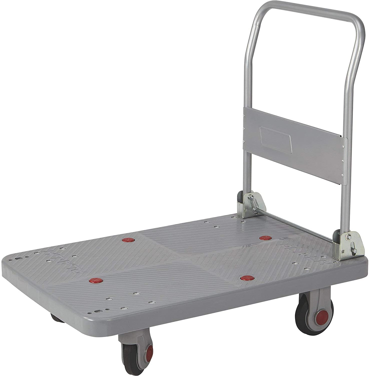 Strongway Platform Cart with Ultra-Quiet Casters - 660-Lb. Capacity, 36in.L x 24in.W, 5in. Premium Natural Rubber Casters