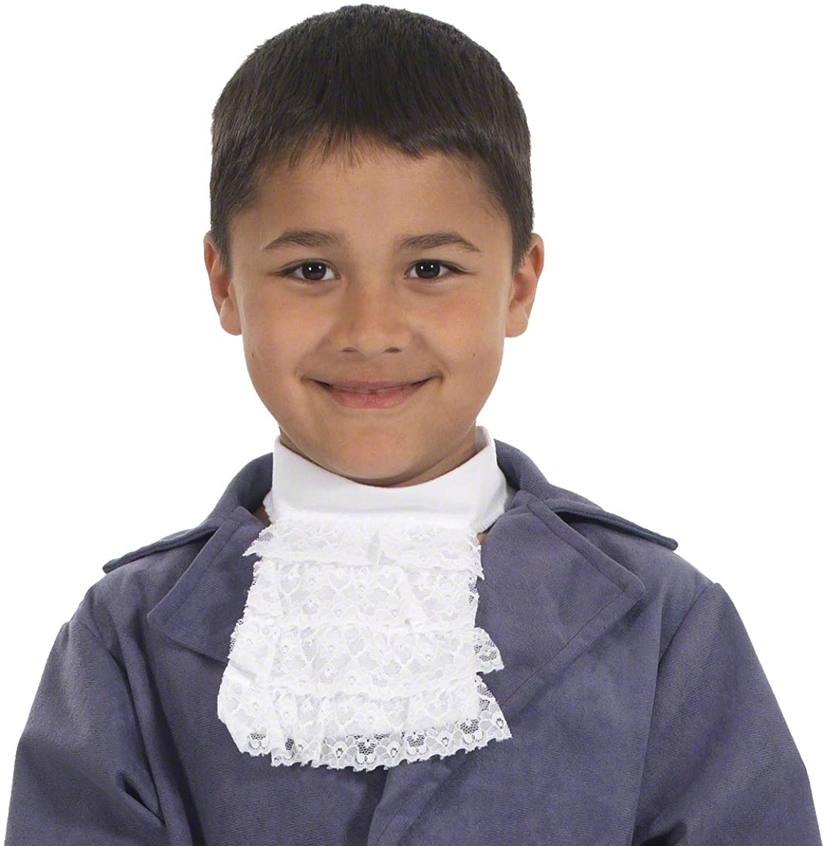 Charlie Crow White Lace Cravat for Kids one Size fits All 3+ Years