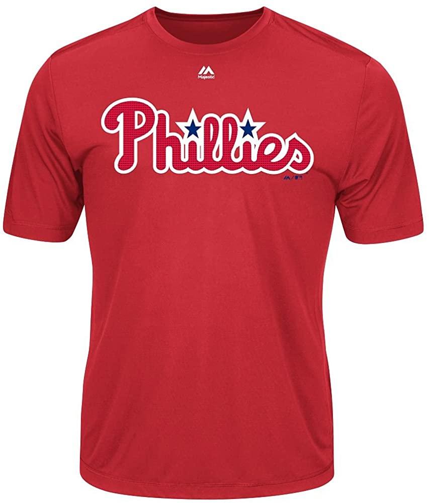 Philidelphia Phillies Adult Evolution Color T-Shirt (X-Large, Red)