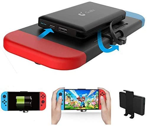 Home Care Wholesale 10000mAh Portable Charger Power Bank for Nintendo Switch- Rechargeable Extended Battery Charger Case - Compact Travel Backup Battery Pack for Nintendo Switch