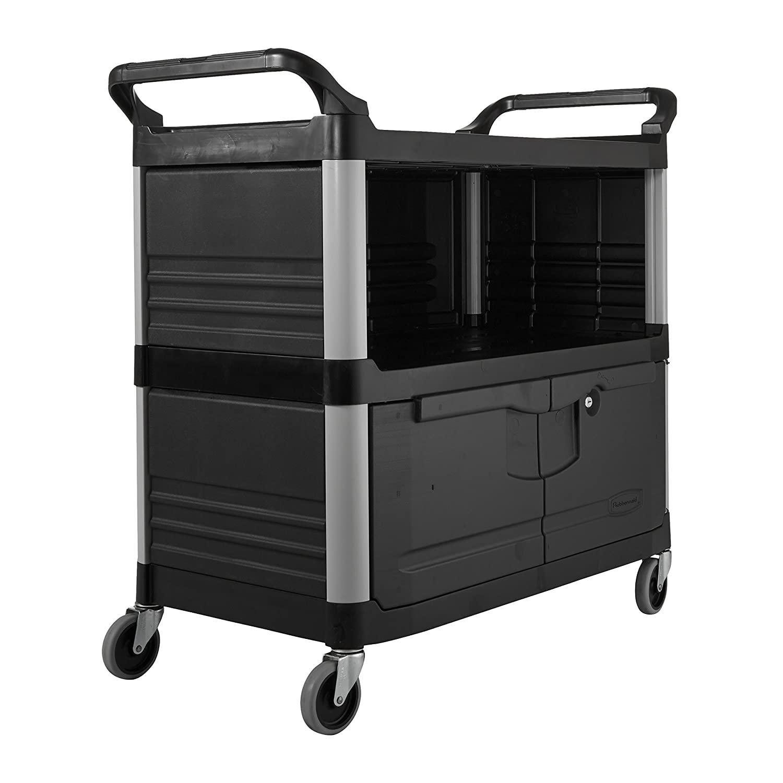 Rubbermaid Commercial Utility Cart, Black, FG409500BLA