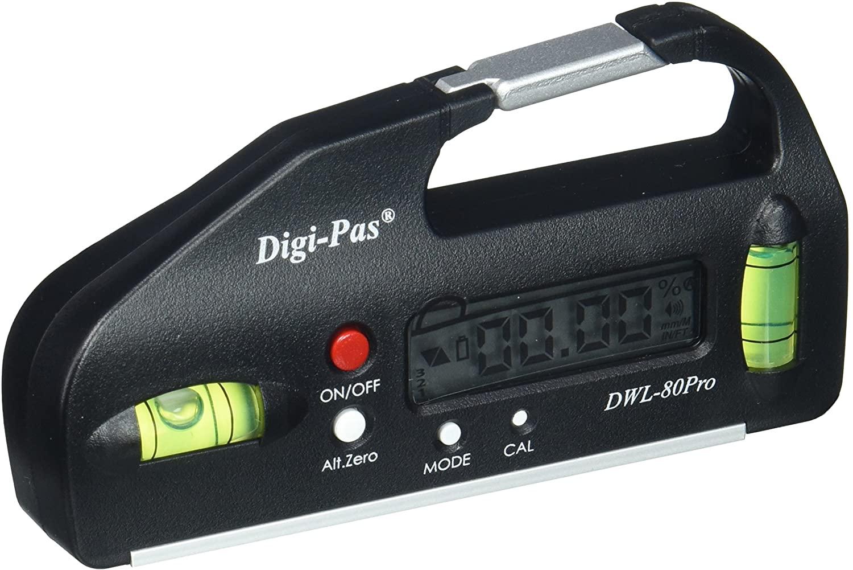 DigiPas DWL80PRO Pocket Size Digital Level, Electronic Angle Gauge, Protractor, Angle Finder, Bevel Gauge, 0.05° 4 inch