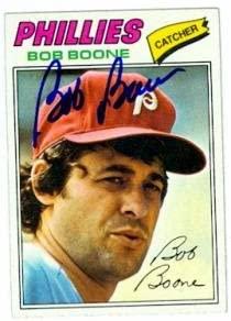 Bob Boone autographed Baseball Card (Philadelphia Phillies) 1977 Topps #545