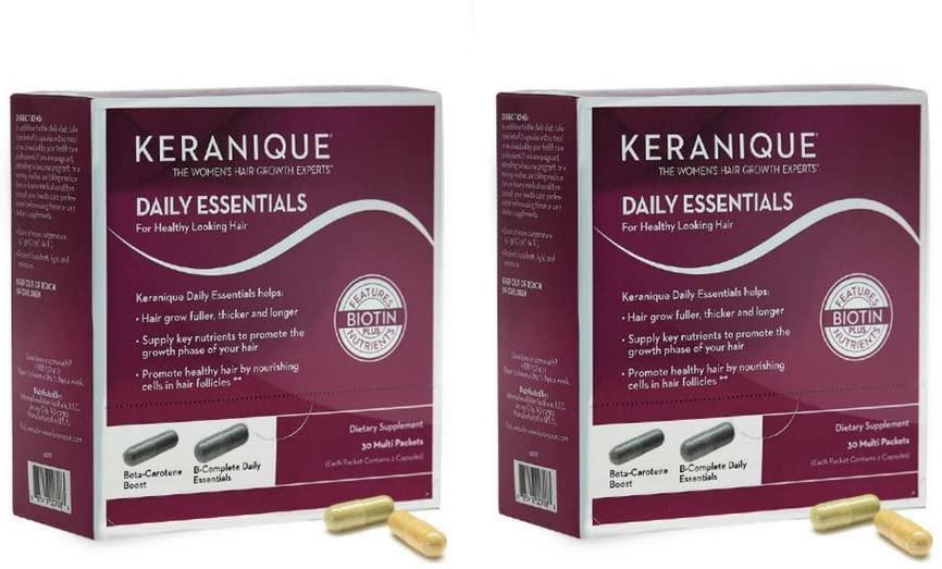 Keranique Daily Essential Supplements, 60 Capsules (2 Pack)