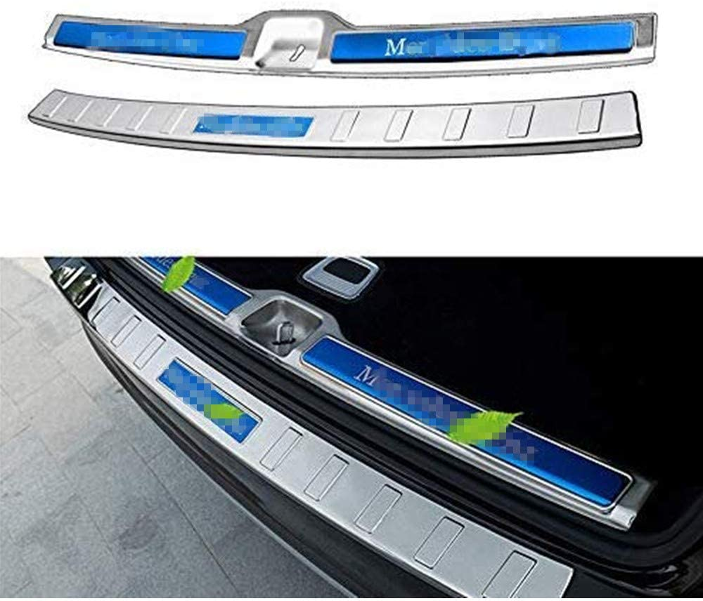 Chebay Rear Door Plate Bumper Cover Bar Sill Trim Protector Fits for GLC 2016 2017 2018 2019