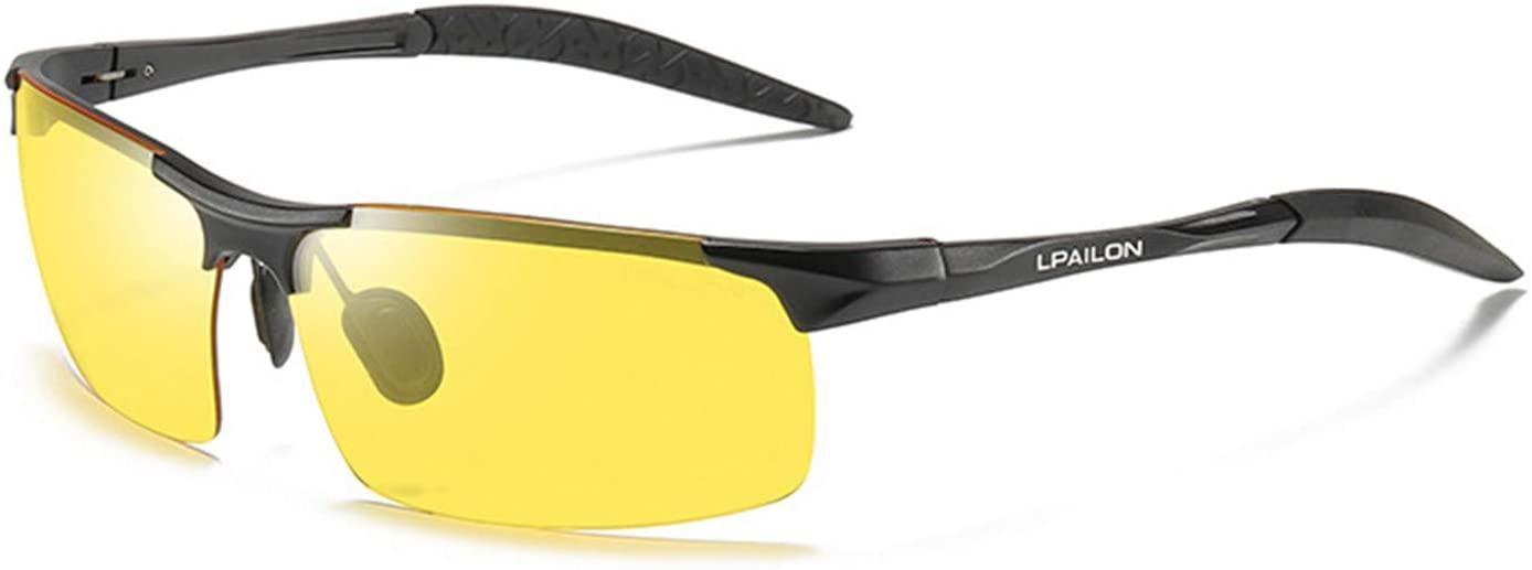 Night Glasses Driving Polarized Sunglasses Men's Night Night Vision Sunglasses Driver Night Lightening Glasses - Black Frame Night Vision Film