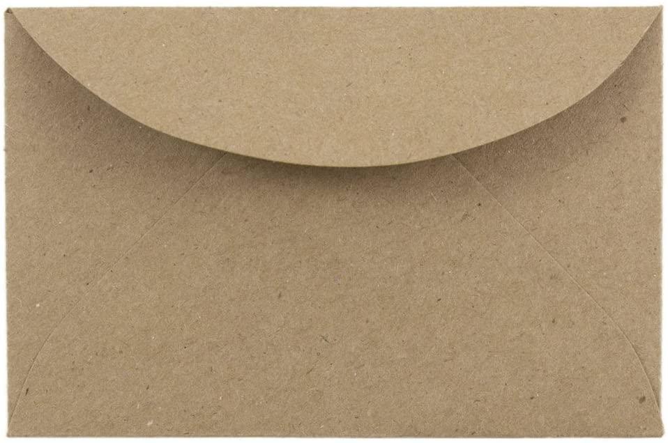 JAM PAPER 3Drug Premium Recycled Mini Envelopes - 2 5/16 x 3 5/8 - Brown Kraft Paper Bag - 25/Pack