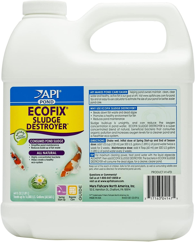 API Pond ECOFIX Sludge Destroyer Bacterial Cleaner, Pond Water Clarifier and Sludge Remover