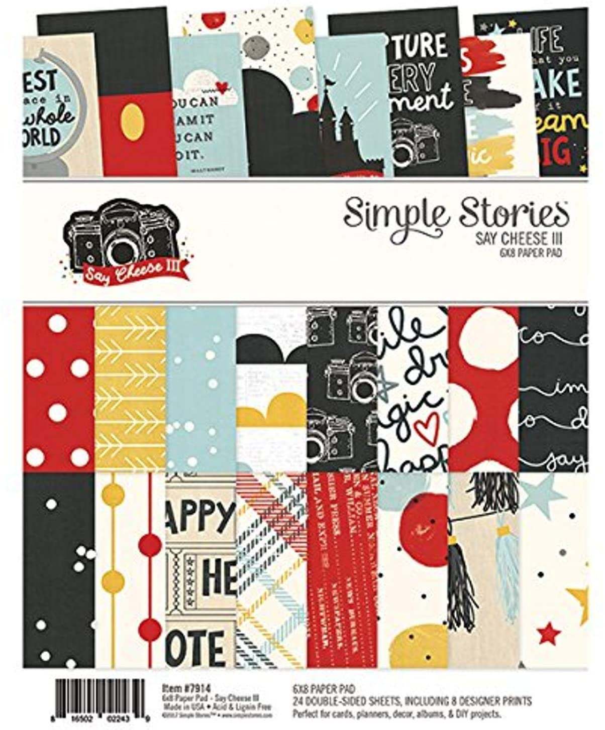 SIMPLE STORIES Say Cheese III 6 x 8 Paper Pad, Multicolor