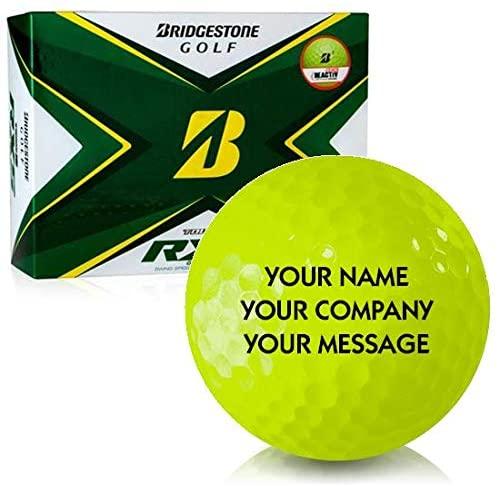 Bridgestone Tour B RXS Yellow Personalized Golf Balls