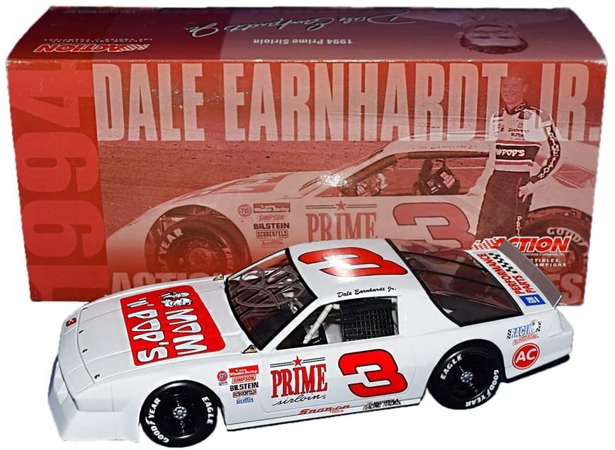 AUTOGRAPHED 1994 Dale Earnhardt Jr. #3 Prime Sirloin/Mom N Pops Racing Camaro Xtreme (Historical Series) 2001 Release Rare Signed Action 1/24 NASCAR Diecast Car with COA (1 of only 10,008 produced!)
