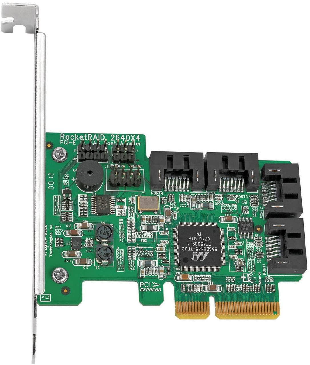 High Point RocketRAID 2640X4 4-Channel PCI-Express x4 SAS 3Gb/s RAIDController