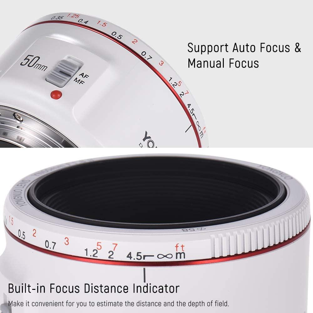 AKDSteel YN50mm F1.8 II Lens Standard Prime Lens Large Aperture Auto Focus Camera Lens for Ca-Non EOS 70D 5D2 5D3 600D DSLR Camera
