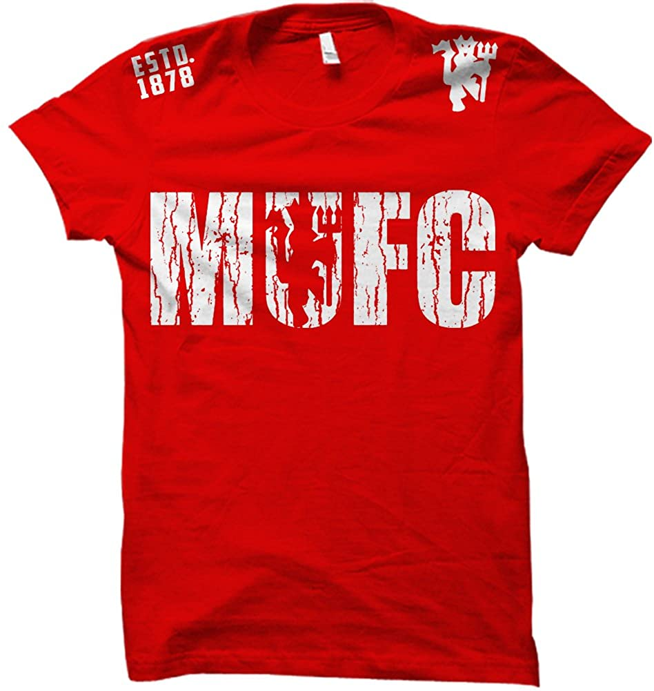 MUFC Manchester United Soccer Footbal Futbol Cotton T-Shirt .1878 Jersey
