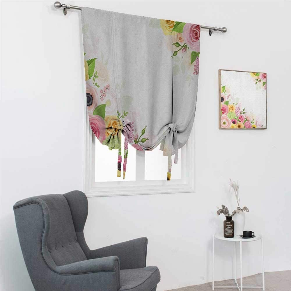 Window Shades Anemone Flower Kids Bedroom Windowsill Roses Ranunculus and Hydrangea Flowers and Green Leaves Frame 35
