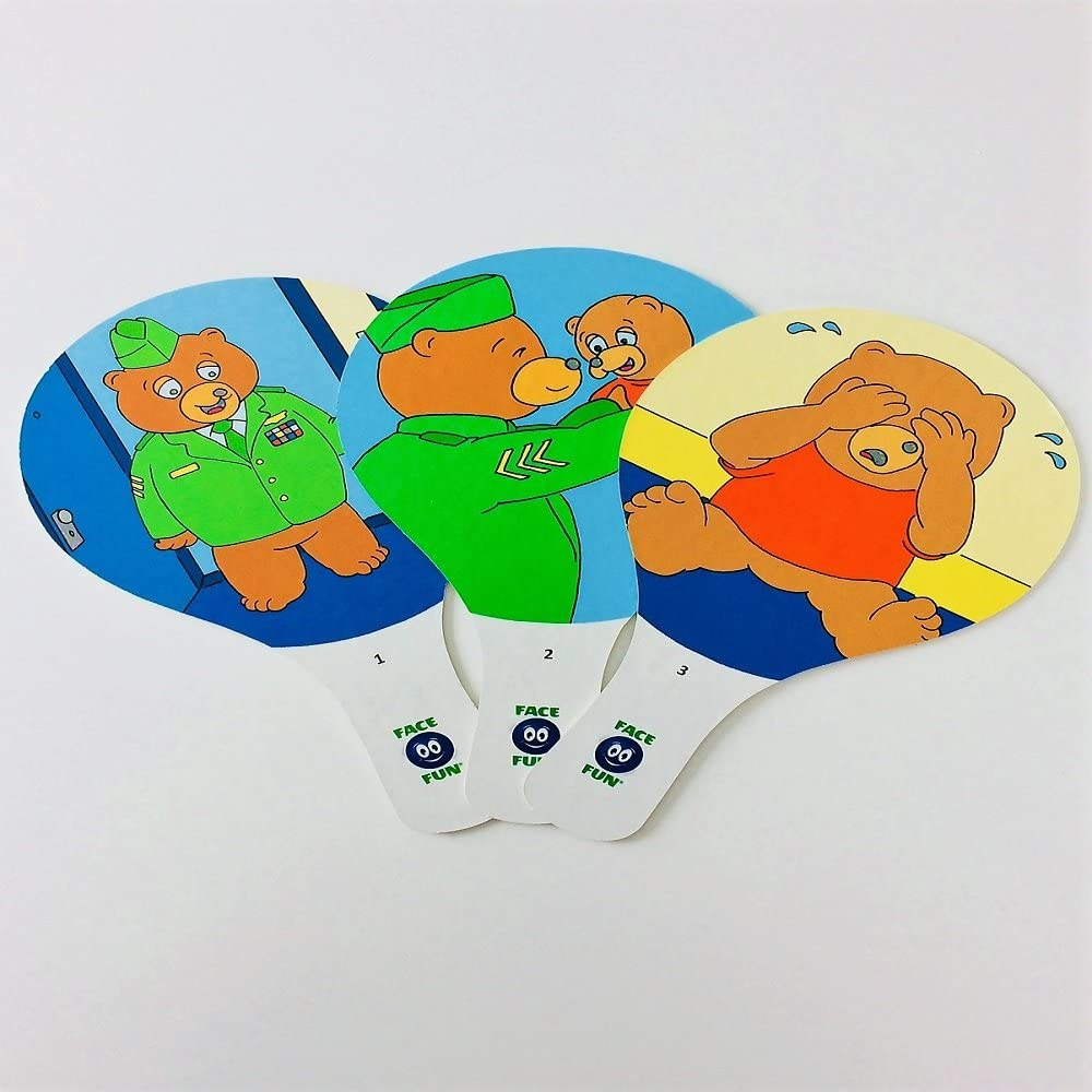 Face Fun Flashcard Story - Bye, Bye Baby Bear - Spanish