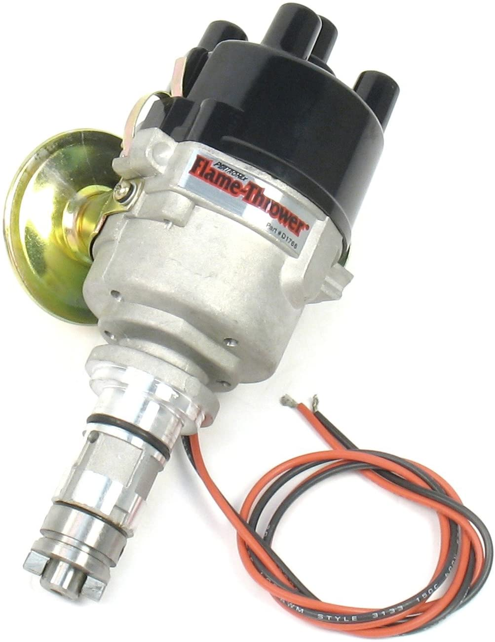 Pertronix D176600 Flame-Thrower Plug and Play Vacuum Advance Cast Electronic Distributor with Ignitor Technology for British 4 Cylinder Engine