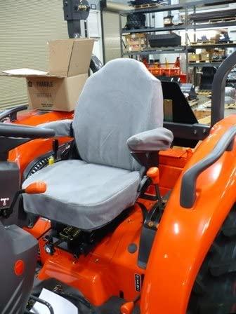 Durafit Seat Covers, KU06 V7 Seat Covers for Tractor L3240, L3940, L4060, L4240, L5040, L5240, L5740 in Gray Velour