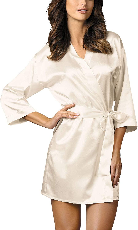 Gorteks Women's Satin 3/4 Sleeved Robe Lilian/SZL