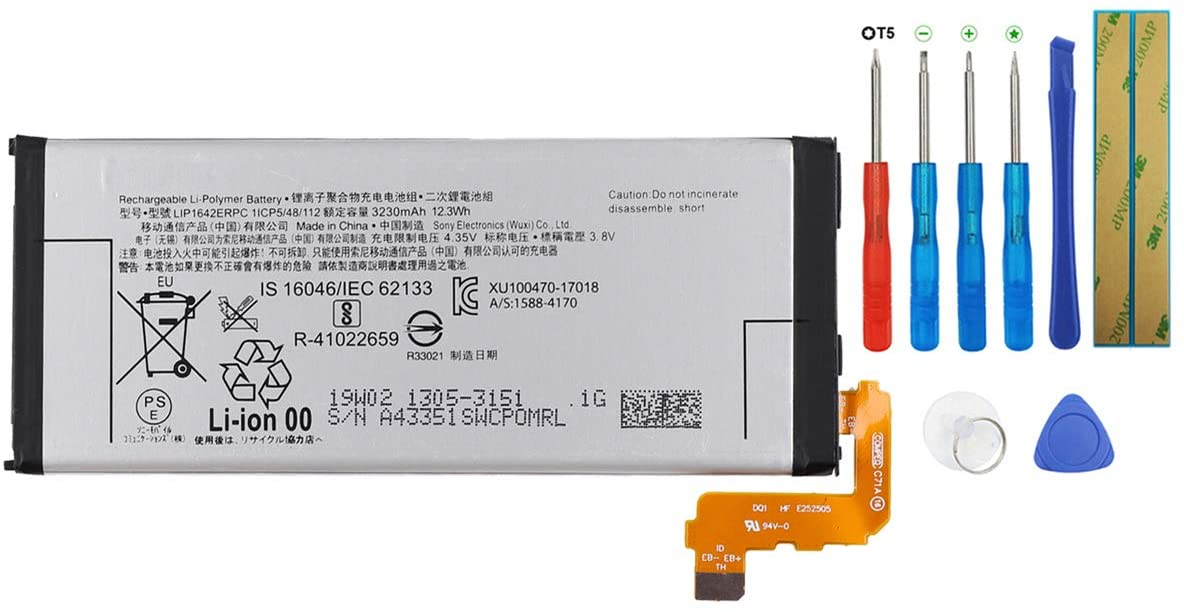 Swark Battery LIP1642ERPC Compatible with Sony Xperia XZ Premium G8141 G8142 G8188 with Tools